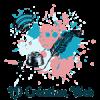 Logo bleu et rose, fond transparent